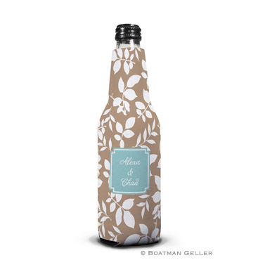 Silo Leaves Mocha Bottle Koozie Personalized by Boatman Geller