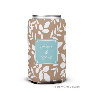 Silo Leaves Mocha Can Koozie