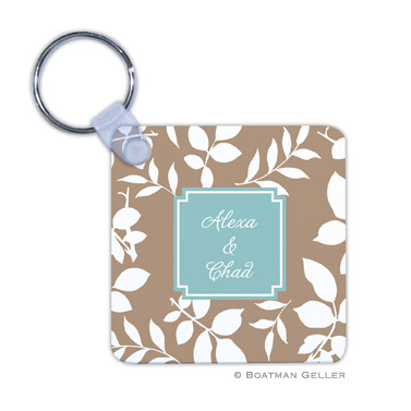Silo Leaves Mocha Key Chain by Boatman Geller