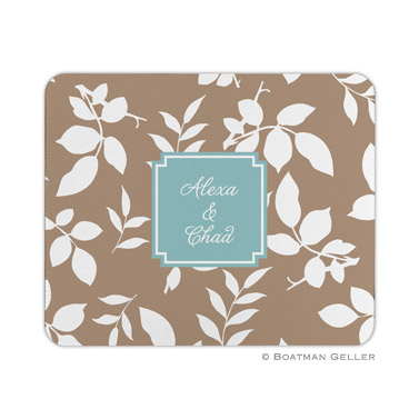 Silo Leaves Mocha Mouse Pad