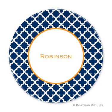 Bristol Tile Navy Personalized Plate