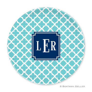Bristol Tile Teal Personalized Plate