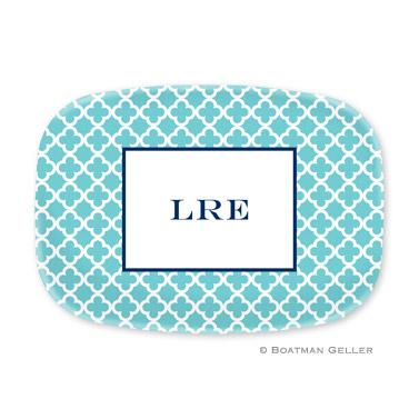 Bristol Tile Teal Personalized Platter