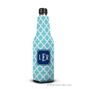 Bristol Tile Teal Bottle Koozie