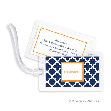 Bristol Tile Navy Bag Tag
