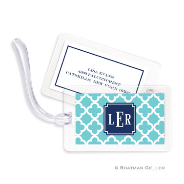 Bristol Tile Teal Bag Tag