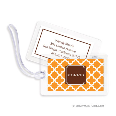 Bristol Tile Tangerine Bag Tag