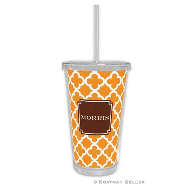 Bristol Tile Tangerine Beverage Tumbler