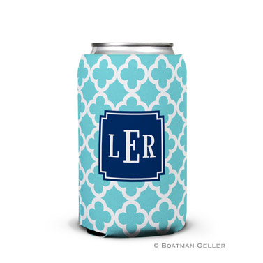 Bristol Tile Teal Can Koozie