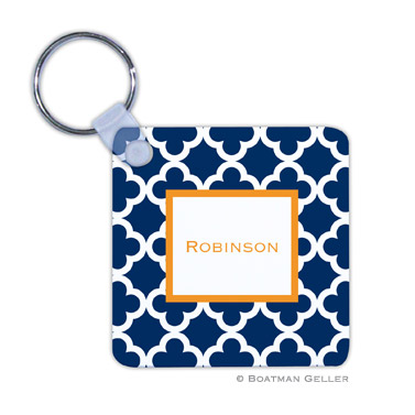 Bristol Tile Navy Key Chain