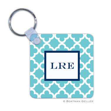Bristol Tile Teal Key Chain