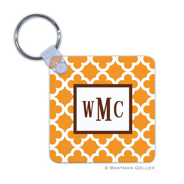 Bristol Tile Tangerine Key Chain by Boatman Geller