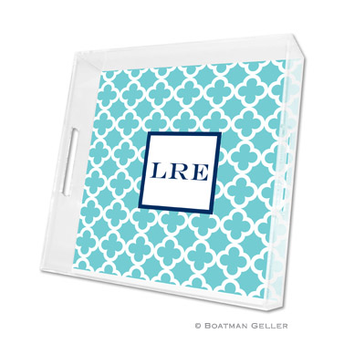 Bristol Tile Teal Square Tray