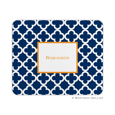 Bristol Tile Navy Mouse Pad