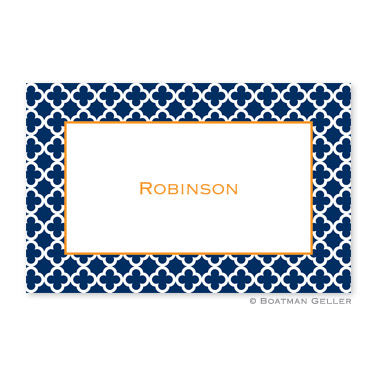 Bristol Tile Navy Personalized Placemat