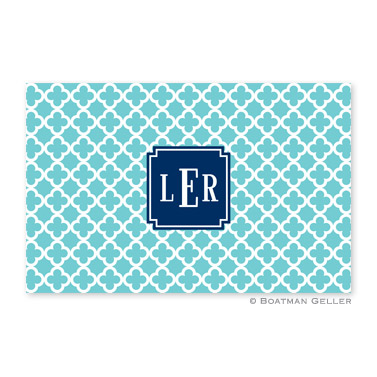 Bristol Tile Teal Personalized Placemat