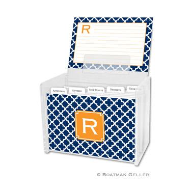 Bristol Tile Navy Recipe Box