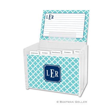 Bristol Tile Teal Recipe Box