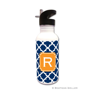 Bristol Tile Navy Water Bottle