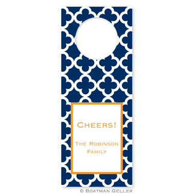 Bristol Tile Navy Wine Tag