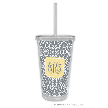 Wrought Iron Gray Beverage Tumbler