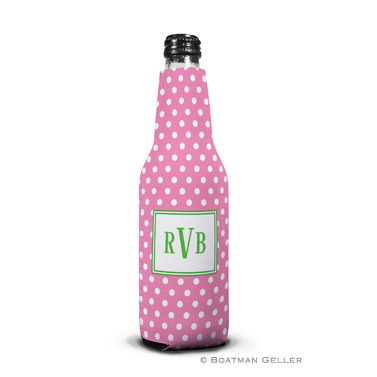 Polka Dot Bubblegum Bottle Koozie