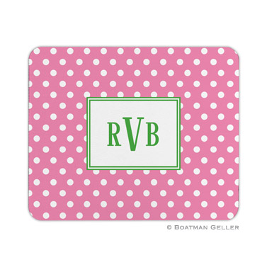 Polka Dot Bubblegum Mouse Pad