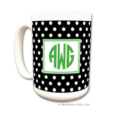 Polka Dot Black Mug