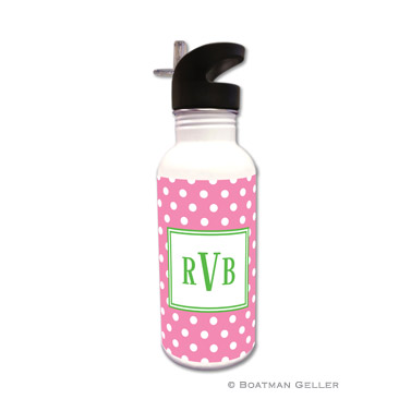 Polka Dot Bubblegum Water Bottle