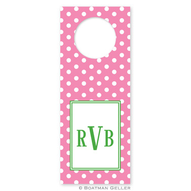 Polka Dot Bubblegum Wine Tag