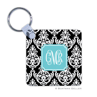 Madison Damask Black  Key Chain