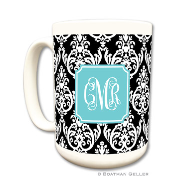 Madison Damask Black Mug