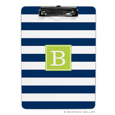 Awning Stripe Navy Clipboard