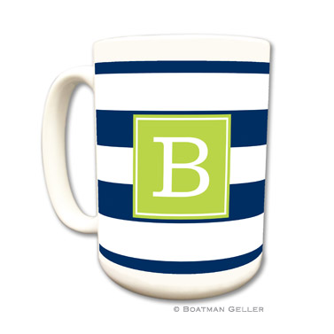 Awning Stripe Navy Mug