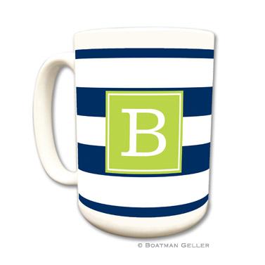 Awning Stripe Navy Mug