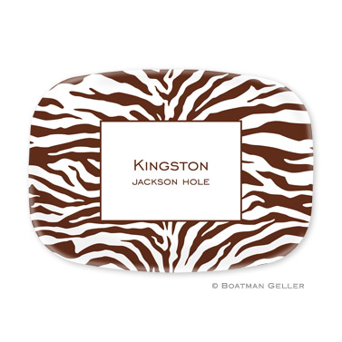 Zebra Chocolate Personalized Platter