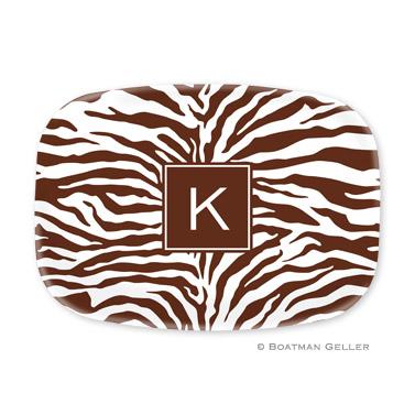 Zebra Chocolate Personalized Platter