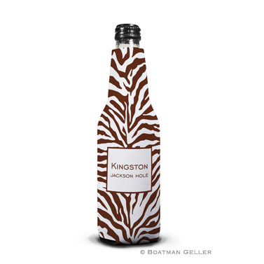 Zebra Chocolate Bottle Koozie