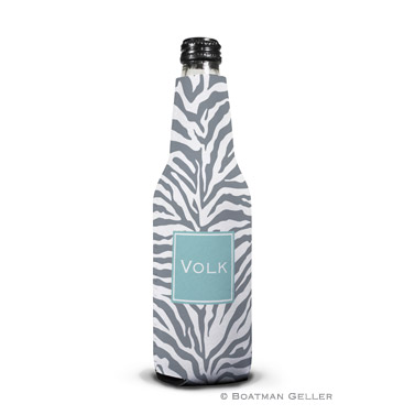 Zebra Gray Bottle Koozie