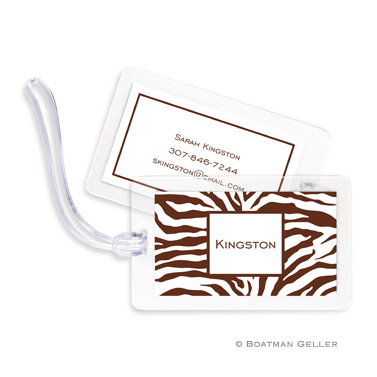 Zebra Chocolate Bag Tag