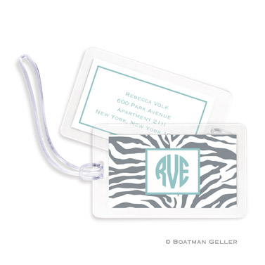 Zebra Gray Bag Tag