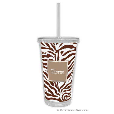 Zebra Chocolate Beverage Tumbler
