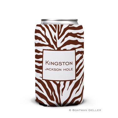 Zebra Chocolate Can Koozie
