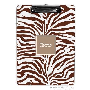 Zebra Chocolate Clipboard