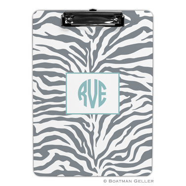 Zebra Gray Clipboard