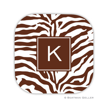 Zebra Chocolate Coaster