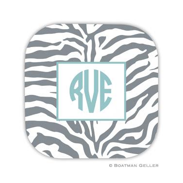 Zebra Gray Coaster
