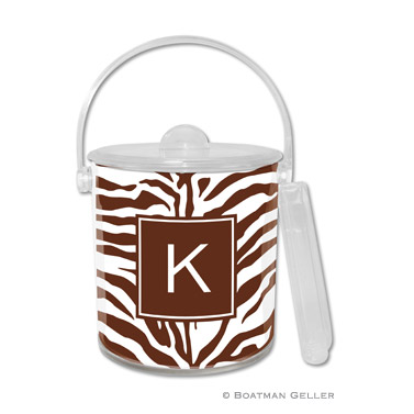 Zebra Chocolate Ice Bucket