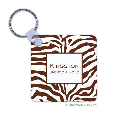 Zebra Chocolate Key Chain