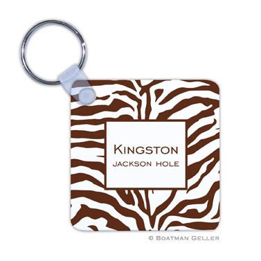 Zebra Chocolate Key Chain